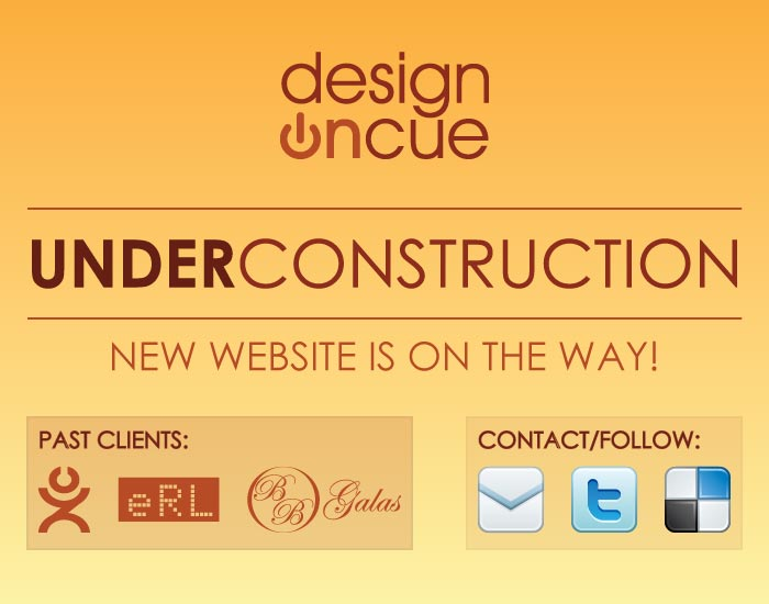 DesignOnCue Under Construction. New Website on the Way!